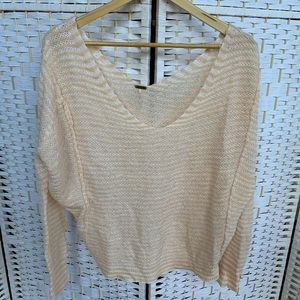 Free People Ballet Pink Slouchy Sweater